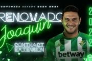 Joaquín renueva con el Real Betis hasta 2022