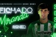 Juan Miranda, jugador del Real Betis hasta 2024